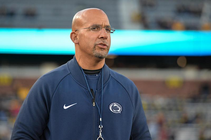Penn State Nittany Lions head coach James Franklin looks on before the game against the Iowa Hawkeyes at Kinnick Stadium. (USA Today)