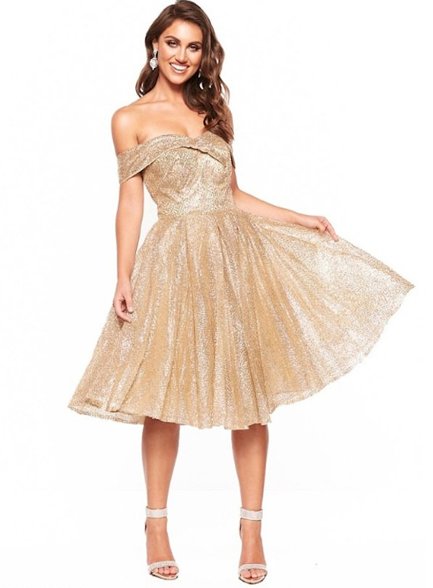 Wedding guest wants to wear Nyla Glitter Cocktail Dress from A&N Label