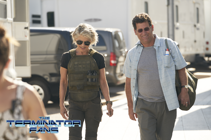 Linda Hamilton and Mackenzie Davis spotted in first Terminator 6 set photos