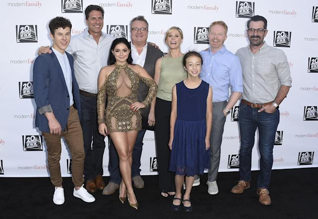 "The cast of ""Modern Family"" at the ""Modern Family"" FYC Event on Wednesday, May 3, 2017 in Los Angeles. (Photo: AP Images)"