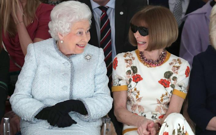 The Queen and Anna Wintour - Getty