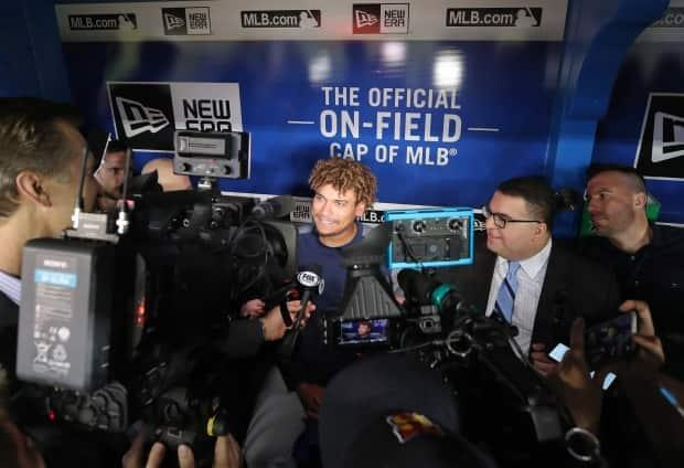 Growing up near Toronto, Naylor is always of interest with the media when he plays against the Blue Jays.