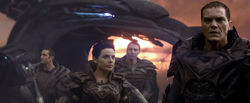 """Antje Traue and Michael Shannon in Warner Bros. Pictures' """"Man of Steel"""" - 2013"""