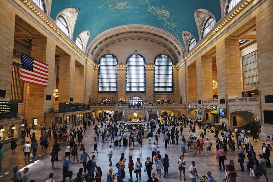 """<p>Chris and Lara Jean start their journey at another famous transit center: Grand Central Station. You might also remember <a href=""""https://www.popsugar.com/smart-living/dash-and-lily-filming-locations-47965576"""" class=""""link rapid-noclick-resp"""" rel=""""nofollow noopener"""" target=""""_blank"""" data-ylk=""""slk:Lily visiting the station in Netflix's Dash &amp; Lily"""">Lily visiting the station in Netflix's <strong>Dash &amp; Lily</strong></a>!</p>"""