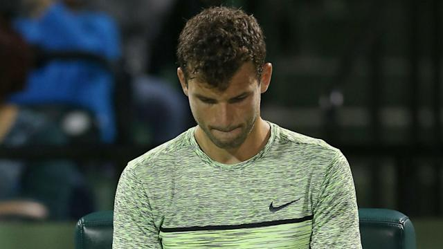 Grigor Dimitrov's recent poor form continued at the Grand Prix Hassan II with defeat to Tommy Robredo.