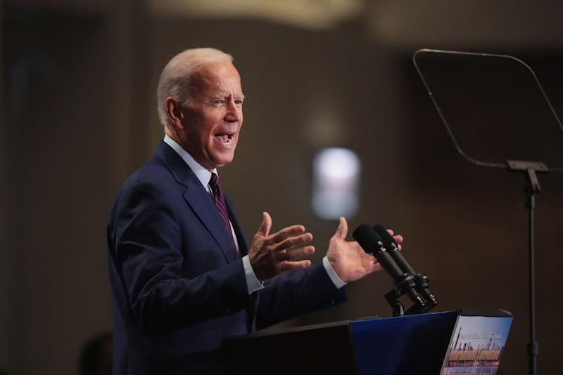Democratic presidential candidate, former Vice President Joe Biden speaks to guests at the Rainbow PUSH Coalition Annual International Convention on June 28, 2019 in Chicago, Illinois. | Scott Olson—Getty Images