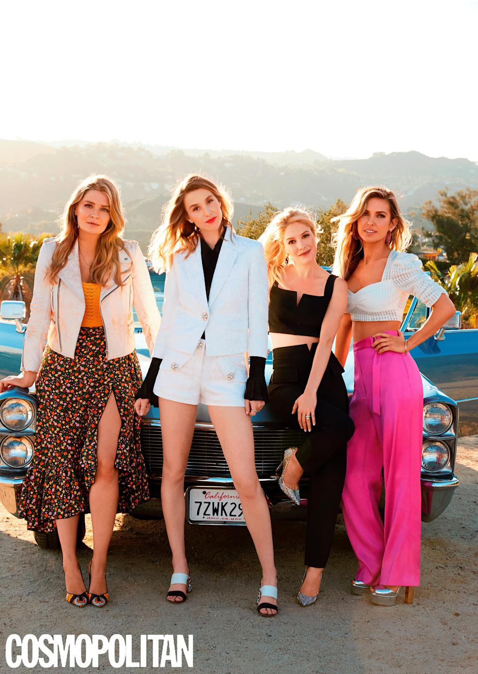 Mischa Barton, left, stands with some of her co-stars on