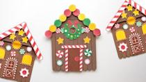 "<p>Use popsicle sticks to build this gingerbread house craft. Then use the printable set of ornaments — or make your own — to add on the colorful and festive finishing touches. </p><p><em><a href=""https://www.printablesfairy.com/popsicle-stick-gingerbread-house-craft/"" rel=""nofollow noopener"" target=""_blank"" data-ylk=""slk:Get the tutorial at Printables Fairy»"" class=""link rapid-noclick-resp"">Get the tutorial at Printables Fairy»</a></em><br></p>"