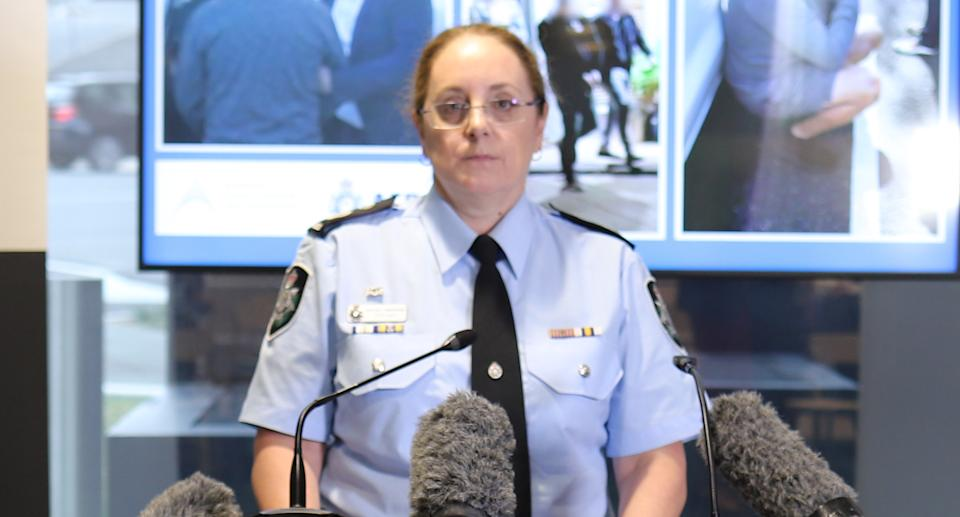 Australian Federal Police Assistant Commissioner Northern Command Lesa Gale is pictured.