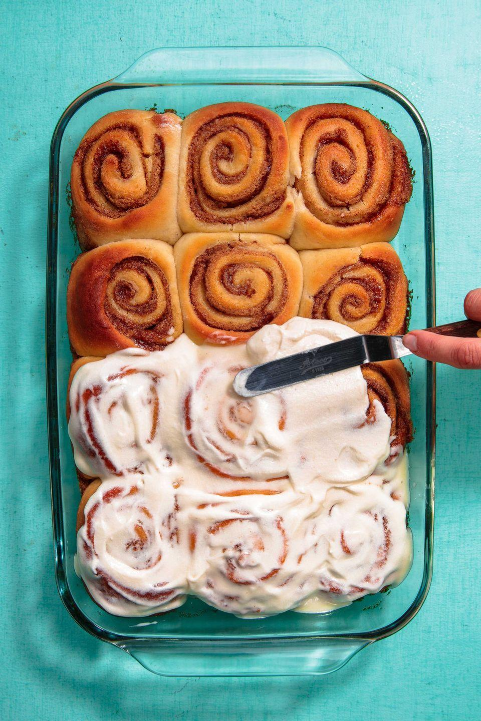 "<p>Opening all of your presents from Santa will probably make you hungry, and this Cinnamon Roll Bake is one of the best ways to fuel up for the day's festivities.</p><p><a class=""link rapid-noclick-resp"" href=""https://www.delish.com/holiday-recipes/g1321/holiday-breakfast-casserole-recipes/"" rel=""nofollow noopener"" target=""_blank"" data-ylk=""slk:GET CHRISTMAS BREAKFAST RECIPES"">GET CHRISTMAS BREAKFAST RECIPES</a></p>"