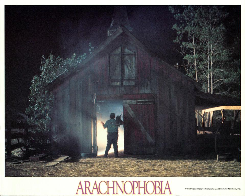 John Goodman walking into a barn in a scene from the film 'Arachnophobia', 1990. (Photo by Buena Vista/Getty Images)