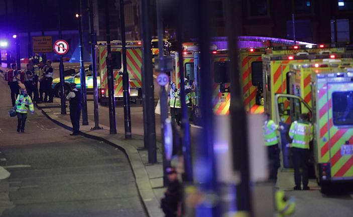 """<p>Emergency personnel on London Bridge as police are dealing with a """"major incident"""" at London Bridge. (Yui Mok/PA Images via Getty Images) </p>"""