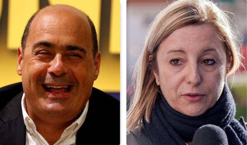 Nicola Zingaretti e Roberta Lombardi (Photo: Getty HP)