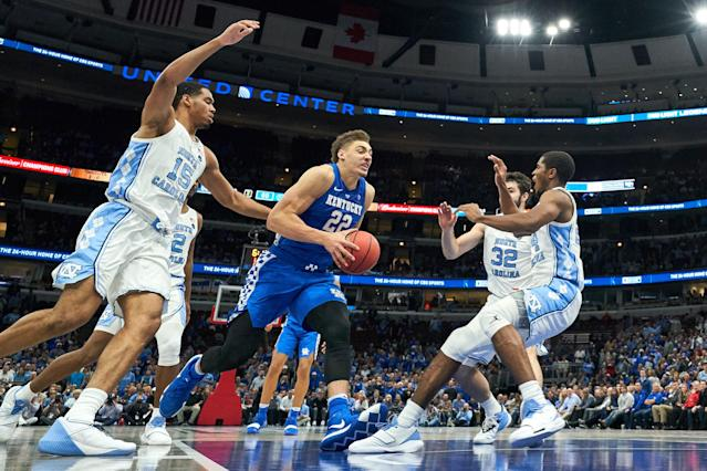 With odds more than twice as long as North Carolina's, is Kentucky a good bet in the NCAA tournament? (Getty)