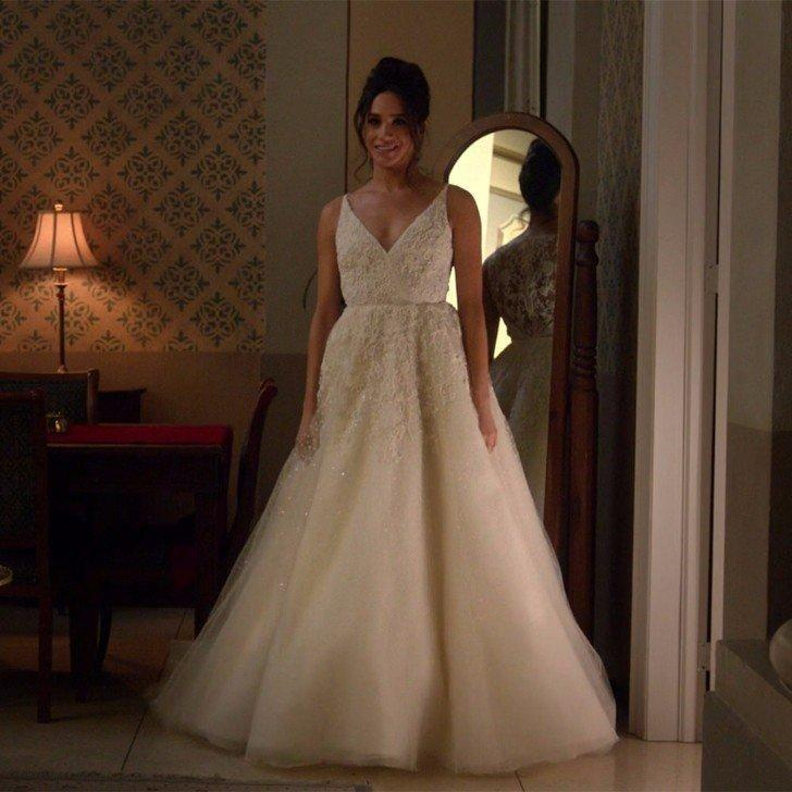 Here's Meghan in her Suits wedding dress. Maybe she could just borrow this one? Source: USA Network