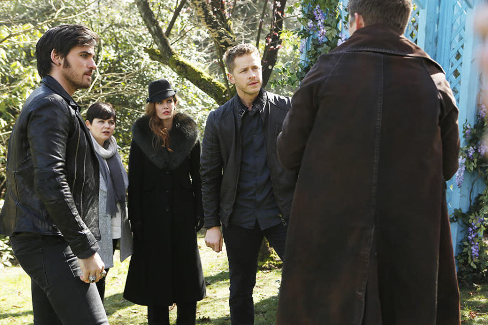 """<p><b>This Season's Theme: </b> """"At the end of Season 5, we literally saw the separation of the two parts of Regina. That becomes one of the operating metaphors for the season – a lot of the characters will have to look inward at the different parts of themselves,"""" said co-creator Adam Horowitz. Co-creator Edward Kitsis added, """"The question is: Can you destroy the darkness?"""" <br><br><b>Where We Left Off: </b> A portal gone wrong took Snow White (Ginnifer Goodwin) and Prince Charming (Josh Dallas) to the Land of Untold Stories, where they met Jekyll and Hyde. Then, Regina, grieving the death of Robin Hood, took the doctor's separation serum to kill the Evil Queen. But the villain somehow survived – and vowed to destroy Storybrooke. <br><br><b>Coming Up:</b> Aladdin (Deniz Akdeniz) and Jasmine (Karen David) are the newest Disney characters to pop up on the show. And as the EPs revealed at Comic-Con, Aladdin turns out to be a Savior like Emma (Jennifer Morrison). This season will explore Savior mythology, which mirrors the Dark One mythology. And """"we're going to learn there have been others and we're going to learn early on that the fate of Saviors is not always a happy one,"""" says Kitsis.<br><br><b>Relationship Status: </b> With Emma declaring her love for Hook (Colin O'Donoghue), """"we can look forward to seeing those two progress, or at least try to,"""" Kitsis teases. And Hook lovers can expect more flashbacks. """"There's more to Hook's past that we haven't seen yet."""" As for Rumplestiltskin (Robert Carlyle) and Belle (Emilie de Ravin), she'll get out of the box she's trapped in eventually and confront her baby daddy. """"What we like to call the 'maternity-leave box' won't be left closed for long,"""" Horowitz says, referring to de Ravin's break last season after having a baby. """"That will allow us to explore the ramifications of where those two are now. It's a rocky journey."""" <i>– KW</i> <br><br>(Credit: Eike Schroter/ABC)</p>"""
