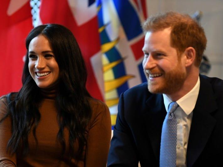 FILE PHOTO: Britain's Prince Harry and his wife Meghan, Duchess of Sussex visit Canada House in London, Britain  January 7, 2020. Daniel Leal-Olivas/Pool via REUTERS/File Photo