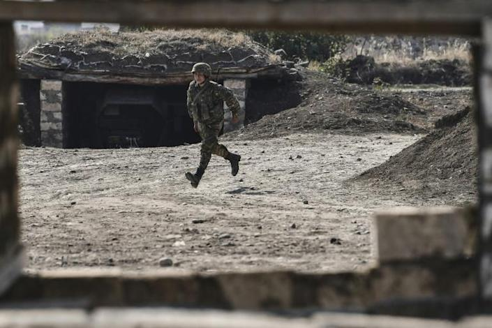 Armenian soldiers have to be alert for drone attacks