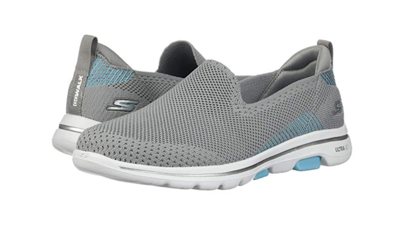The stylish GoWalk 5 sneaker is a friend to all who suffer from joint pain and all those uncomfortable foot aches. (Photo: Zappos)