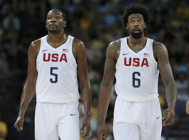 Kevin Durant first became friends with DeAndre Jordan when Durant tried to recruit Jordan to Texas. (Reuters)