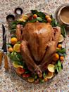 """<p>It wouldn't be Thanksgiving without turkey. And thankfully, the holiday's centerpiece dish is keto-friendly as-is! This simple recipe gets plenty of flavor—and extra crispy skin—from lots of butter and a generous dash of salt.</p><p><strong><a href=""""https://www.countryliving.com/food-drinks/recipes/a36673/easiest-salt-and-pepper-turkey/"""" rel=""""nofollow noopener"""" target=""""_blank"""" data-ylk=""""slk:Get the recipe"""" class=""""link rapid-noclick-resp"""">Get the recipe</a>.</strong></p><p><a class=""""link rapid-noclick-resp"""" href=""""https://www.amazon.com/Cuisinart-Classic-Stainless-Rectangular-7117-16UR/dp/B003YLJZ6M?tag=syn-yahoo-20&ascsubtag=%5Bartid%7C10050.g.33501494%5Bsrc%7Cyahoo-us"""" rel=""""nofollow noopener"""" target=""""_blank"""" data-ylk=""""slk:SHOP ROASTING PANS"""">SHOP ROASTING PANS</a></p>"""