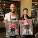 """<p>Like a lot of relationships right now, Tiffany Haddish and Common's relationship blossomed virtually. The pair raised money with Bumble early on in the pandemic by going on a virtual date. Months later, the pair is quarantined together and <a href=""""https://www.refinery29.com/en-us/2020/08/9947974/tiffany-haddish-common-dating-quarantine"""" rel=""""nofollow noopener"""" target=""""_blank"""" data-ylk=""""slk:officially a couple"""" class=""""link rapid-noclick-resp"""">officially a couple</a>. Tiffany even joked she might come out of the pandemic pregnant.</p><p><a href=""""https://www.instagram.com/p/B9s3WLbBdZh/"""" rel=""""nofollow noopener"""" target=""""_blank"""" data-ylk=""""slk:See the original post on Instagram"""" class=""""link rapid-noclick-resp"""">See the original post on Instagram</a></p>"""