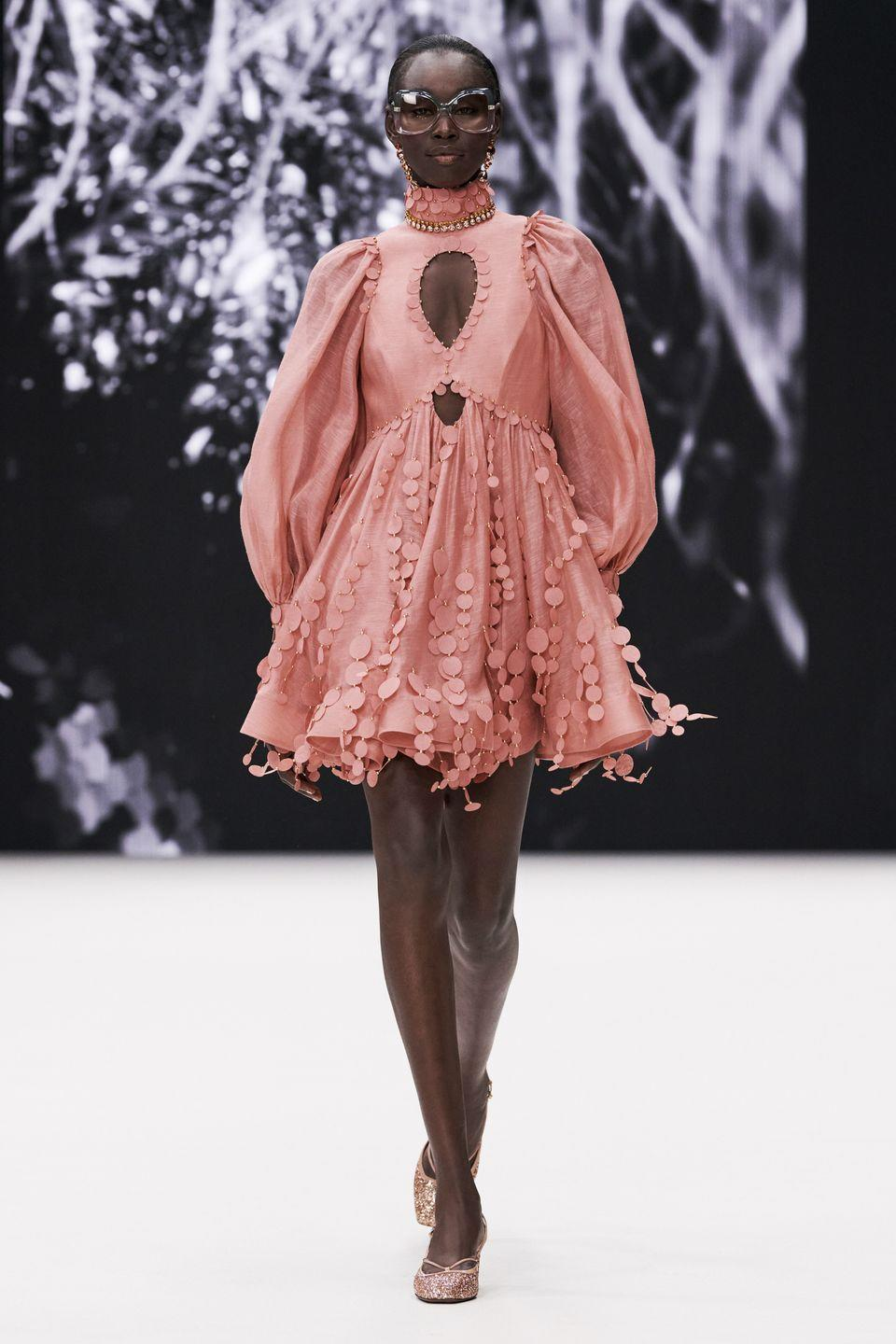 "<p>An appreciation of the 1970s was clear to see in Zimmermann's latest autumn/winter collection, with the namesake designer explaining that she started with the memory of a music television show in Australia in the Seventies and Eighties called Countdown.</p><p>""Growing up in the suburbs, between 6pm and 7pm each Sunday night, it was this exciting and inspirational escape for me, where music, fashion and a wider world came together,"" creative director Nicky Zimmermann said. ""There were all these great international bands who were touring Australia, performing alongside established and emerging local artists, and these hilariously candid interviews with the host, Molly Meldrum. I loved the energy and creativity that came together with each show – it was so addictive! It was a really important influence on me growing up as a teenager, which is funny when I think back to it. The collection themes came as much from the mood it evoked as much as the eras it traversed.""</p>"