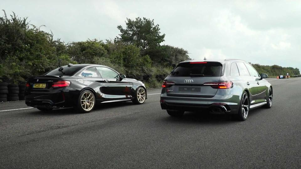 Audi RS4 Vs BMW M2 CS Drag Race Is Closer Than You Think