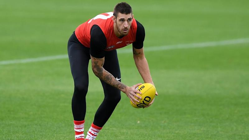 Sydney ruckman Sam Naismith has been ruled out of the Swans AFL clash with Essendon due to injury