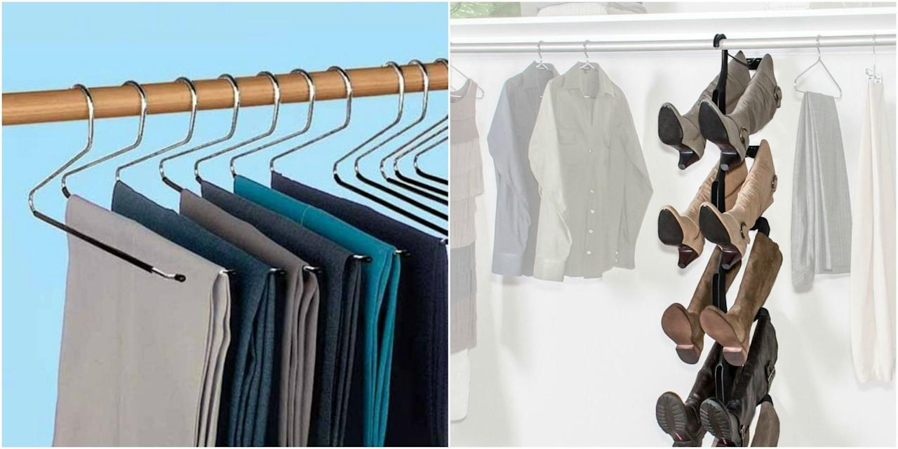 """<p>Clothes are a difficult beast to wrangle. If you're like most of us, you probably feel like there's <a rel=""""nofollow"""" href=""""http://www.housebeautiful.com/lifestyle/organizing-tips/tips/g911/closet-organization-ideas/"""">never enough space</a> in your closet to fit all of them. But, luckily, a magical place called Amazon exists and it's full of all of the <a rel=""""nofollow"""" href=""""http://www.housebeautiful.com/lifestyle/organizing-tips/news/g4047/best-amazon-organizers/"""">genius organizers</a> you never even knew existed — and here's proof.</p>"""