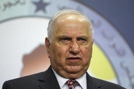 Iraqi Secular Shiite lawmaker Ahmed Chalabi speaks during a news conference in Baghdad