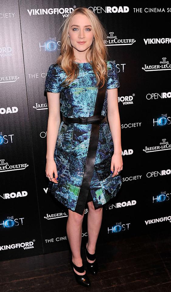 "Kruger's co-star, 18-year-old Saoirse Ronan (""Atonement""), rocked this Proenza Schouler frock -- and Louboutin booties -- to a Wednesday night screening of the film, which was adapted from Stephenie Meyer's novel of the same name. (3/27/2013)"