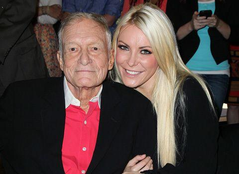 Hef with wife Crystal Harris. Credit: Getty Images