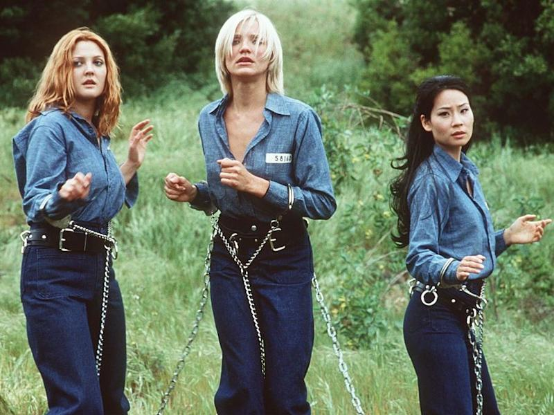 Teeth, hair and relentless butt shots: Drew Barrymore, Cameron Diaz and Lucy Liu in Charlie's Angels: Columbia Pictures/Newsmakers