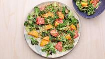 "Enough with having to give free massages to stubbornly tough greens. In this dish, a quick char in a hot skillet tempers the raw edge of kale and balances its vegetal flavor. <a href=""https://www.bonappetit.com/recipe/charred-kale-with-citrus?mbid=synd_yahoo_rss"" rel=""nofollow noopener"" target=""_blank"" data-ylk=""slk:See recipe."" class=""link rapid-noclick-resp"">See recipe.</a>"