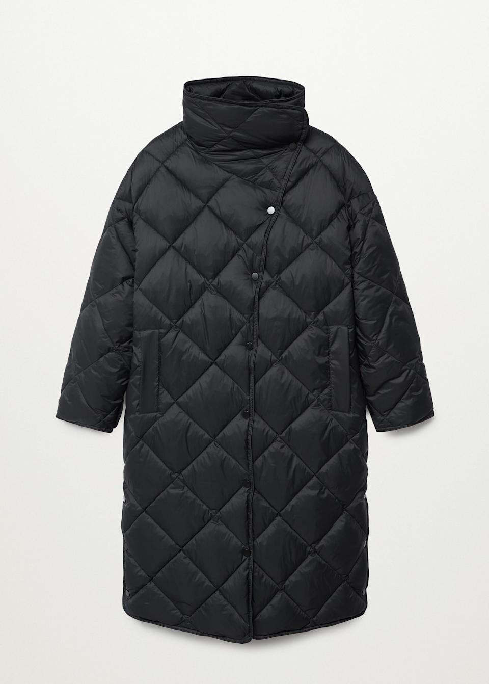<p>Need a winter coat upgrade? Bundle up in this <span>Mango Oversize Quilted Coat</span> ($90, originally $150).</p>