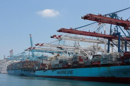General view of Tanger-Med container port in Ksar Sghir near the coastal city of Tangier, Morocco