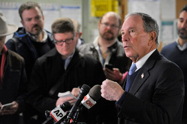 Former New York Mayor Michael Bloomberg is aiming to become the Democratic presidential candidate for next year's vote (AFP Photo/Joseph PREZIOSO)
