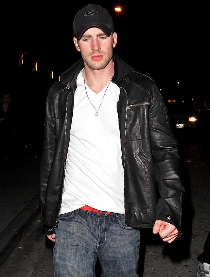 """Fantastic Four"" hunk Chris Evans was also spotted outside the nightclub. Think he was looking to party with Audrina and Kristin? Epa/<a href=""http://www.x17online.com"" target=""new"">X17 Online</a> - March 15, 2010"