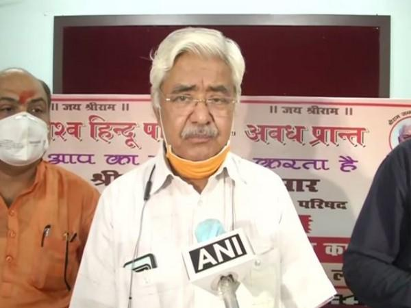 The Central Working President of Vishva Hindu Parishad (VHP) Advocate Alok Kumar (File Photo/ANI)