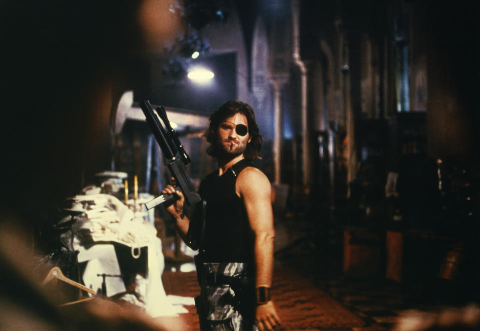 "Actor Kurt Russell on the set of ""Escape From New York"". (Photo by Sunset Boulevard/Corbis via Getty Images)"