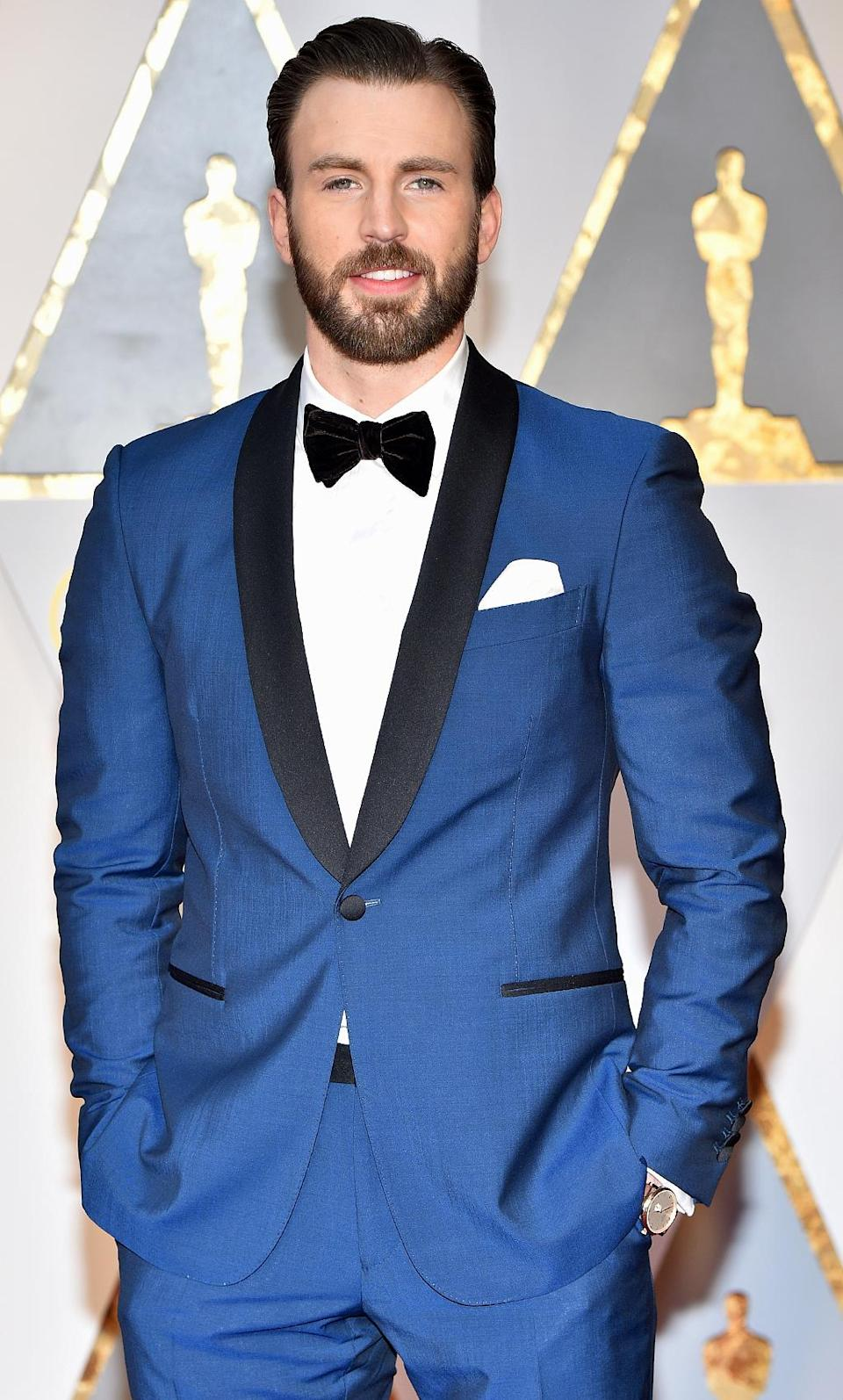 <p>Chris Evans attends the 89th Annual Academy Awards at Hollywood & Highland Center on February 26, 2017 in Hollywood, California. (Photo by Kevin Mazur/Getty Images) </p>