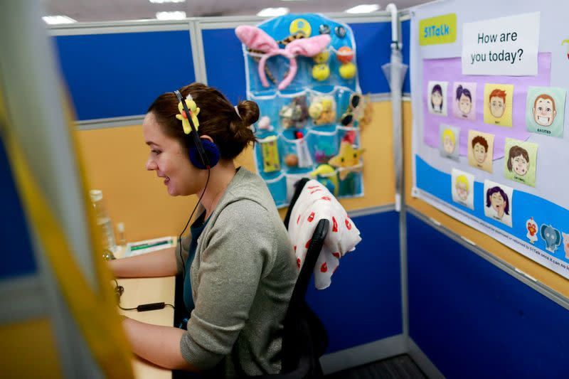 Online tutors get income boost as demand surges for lessons during lockdowns, in the Philippines