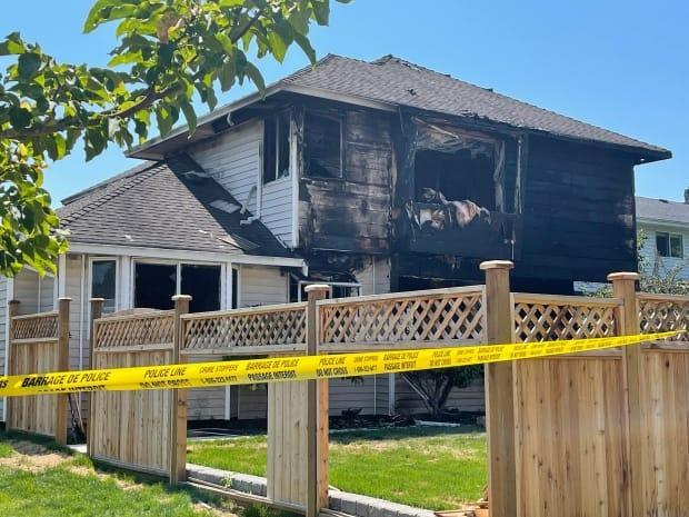A five-year-old child was found dead after a relative started a house fire in Surrey, B.C., and allegedly left the child behind inside in a domestic assault, according to RCMP. (CBC - image credit)