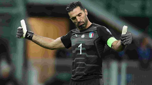 Interim Italy coach Luigi Di Biagio has included veteran Juventus goalkeeper Gianluigi Buffon in a 26-man squad.
