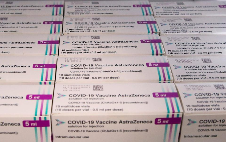 The AstraZeneca jab was developed with Oxford University. Photo: Reuters