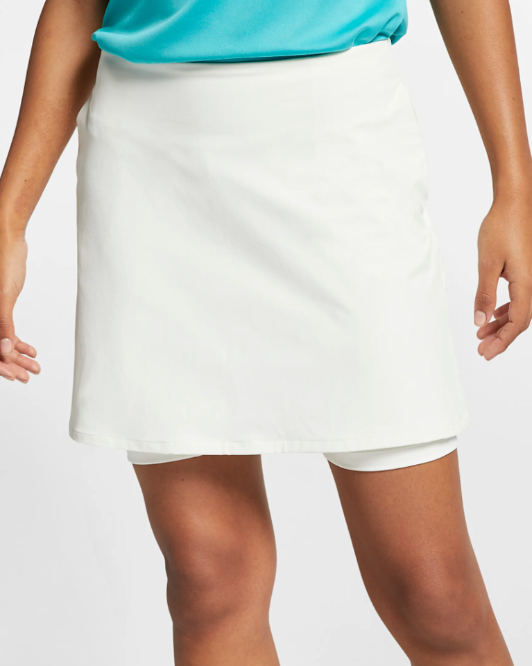 """<p>This pleated skirt has a wide waistband that won't restrict your movements on the course when you're going for a hole-in-one.</p> <p><strong>Buy it:</strong> $63 (originally $90), <a href=""""https://www.nike.com/t/flex-womens-15-golf-skirt-L5nBdB"""" rel=""""nofollow"""">nike.com</a></p>"""