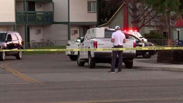 PHOTO: The scene at an apartment complex in Boise, Idaho, on July 1, 2018, where a man went on a stabbing spree the night before. (ABC News)