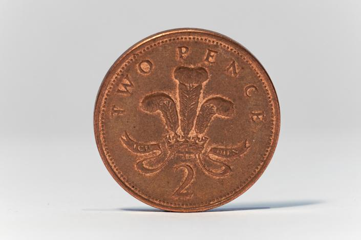 In March, Royal Mint was sitting on eight times as many 2p pieces as it needed. Photo: Getty