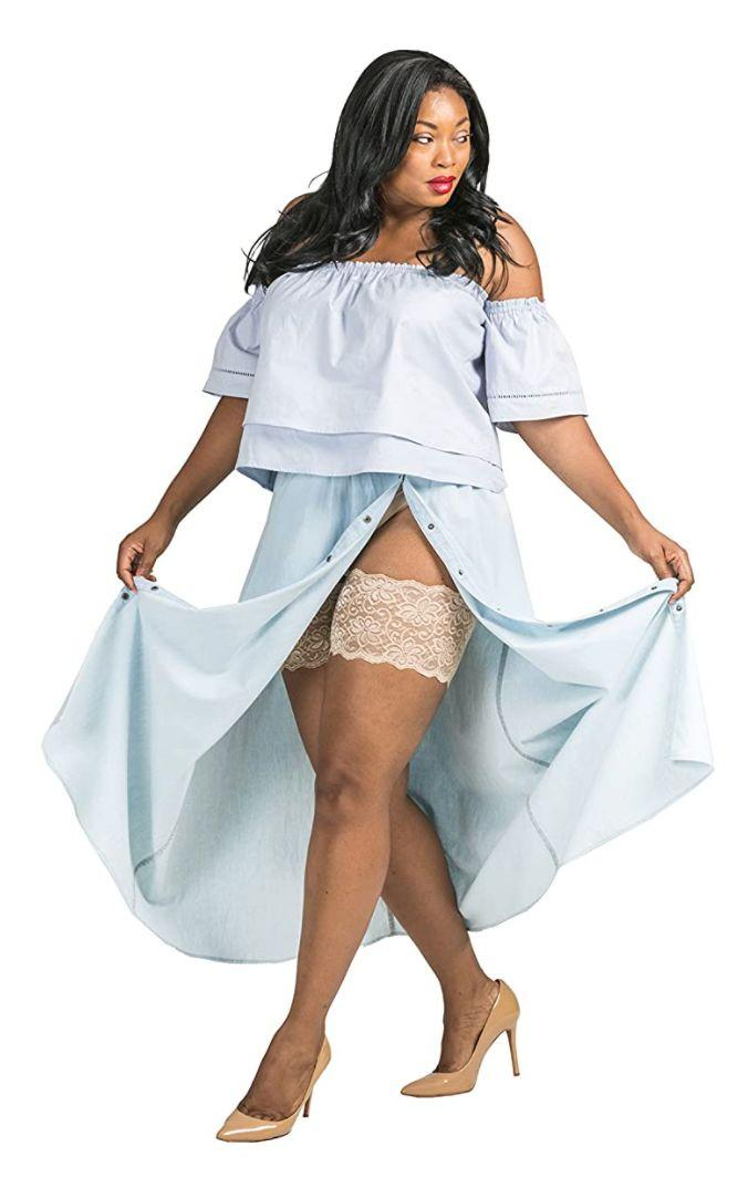 """Made to stay in place all through the warm weather months, these will make sure that you don't have to worry about that dreaded thigh chafe whenever want to flounce around in dresses.<br /><br /><strong>Promising review:</strong>""""LIFESAVER! Okay, that's a little hyperbolic, but these are really fantastic.<strong>I have tried everything to alleviate the pain!</strong>I usually wear a pair of volleyball shorts under my skirts, but when the temperature is above 75 degrees putting on an extra layer down there defeats the joyous ventilation of skirt wearing! In comes these Bandelettes:<strong>they stay up and they keep you chafe-free ALL DAY! I've worn mine hiking, at work, walking around town, you name it!</strong>The one downside is the little strips of rubber or whatever that hold them up to create a bit of a suffocated sweat line on one's thighs, albeit super thin and only when worn for a long time. I highly recommend them. Plus!<strong>This is my second summer wearing this pair and they're still going strong!</strong>And I wear them multiple times a week!"""" —<a href=""""https://www.amazon.com/gp/customer-reviews/R1VZRDJ6P93XNJ?ASIN=B00NB94CO2&ie=UTF8&linkCode=ll2&tag=huffpost-bfsyndication-20&linkId=40fd716e4c90f44972fc1fb69b83adab&language=en_US&ref_=as_li_ss_tl"""" target=""""_blank"""" rel=""""noopener noreferrer"""">K Sully<br /></a><br /><strong>Get a pair from Amazon for<a href=""""https://www.amazon.com/Bandelettes-Elastic-Anti-Chafing-Thigh-Bands/dp/B00NB94CO2?&linkCode=ll1&tag=huffpost-bfsyndication-20&linkId=acb5e247b82883bf90a6d9c932714a02&language=en_US&ref_=as_li_ss_tl"""" target=""""_blank"""" rel=""""noopener noreferrer"""">$18.95</a>(available in women's sizes S-3X and 17 colors).</strong>"""